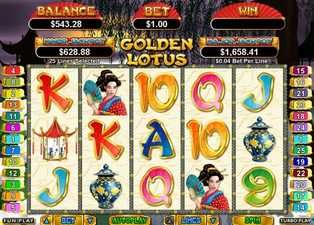 free slots games golden lotus