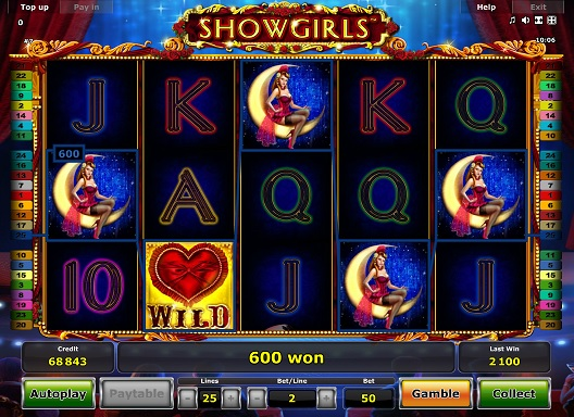 play showgirls slot by Novomatic