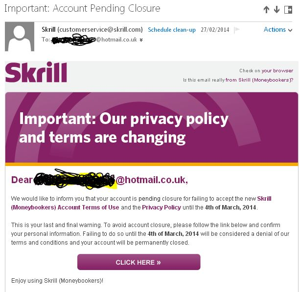 skrill (moneybookers) login email