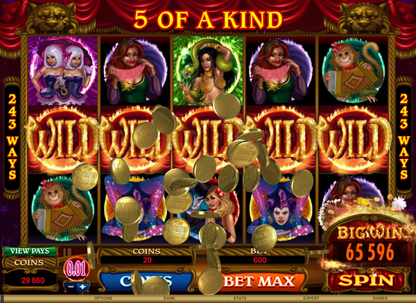 Player Strikes A Golden Fortune With Twisted Circus At Maple Casino