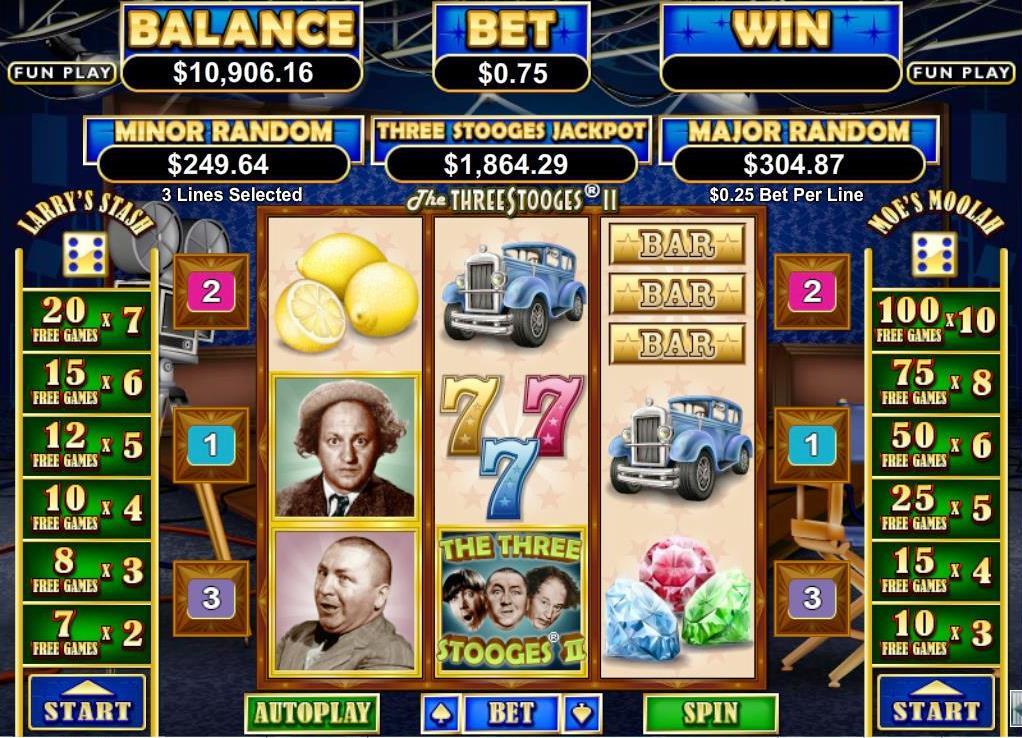 Spiele The Three Stooges II - Video Slots Online