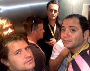Stuck in the elevator
