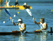 Alwyn Morris (left) and his partner Hugh Fisher- courtesy Canadian Sports Images