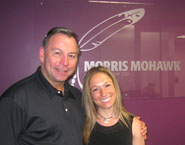 Alywn and I at the Mohawk Morris Gaming Group Offices